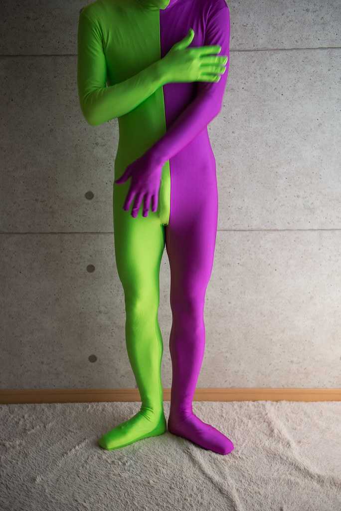 lime green/purple unitard and pointe shoes | lime green ...