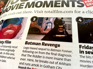 """Batman: Revenge"" Lego Film in Total Film Magazine 
