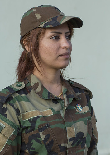 Peshmerga Woman Of The 2Nd Battalion, Sulaymaniyah, Kurdis ...