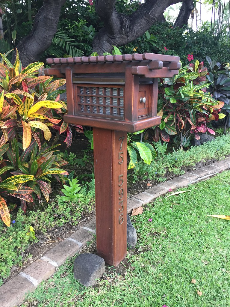 An ornate mailbox   Japanese design on the island. You ...