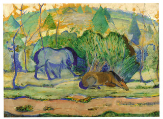 Franz Marc (1880 - 1916) - The Blue Horses | by quadralectics
