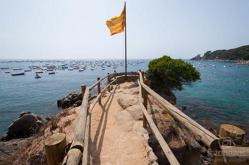 El mirador de la Punta dels Burricaires en Calella de Palafrugell