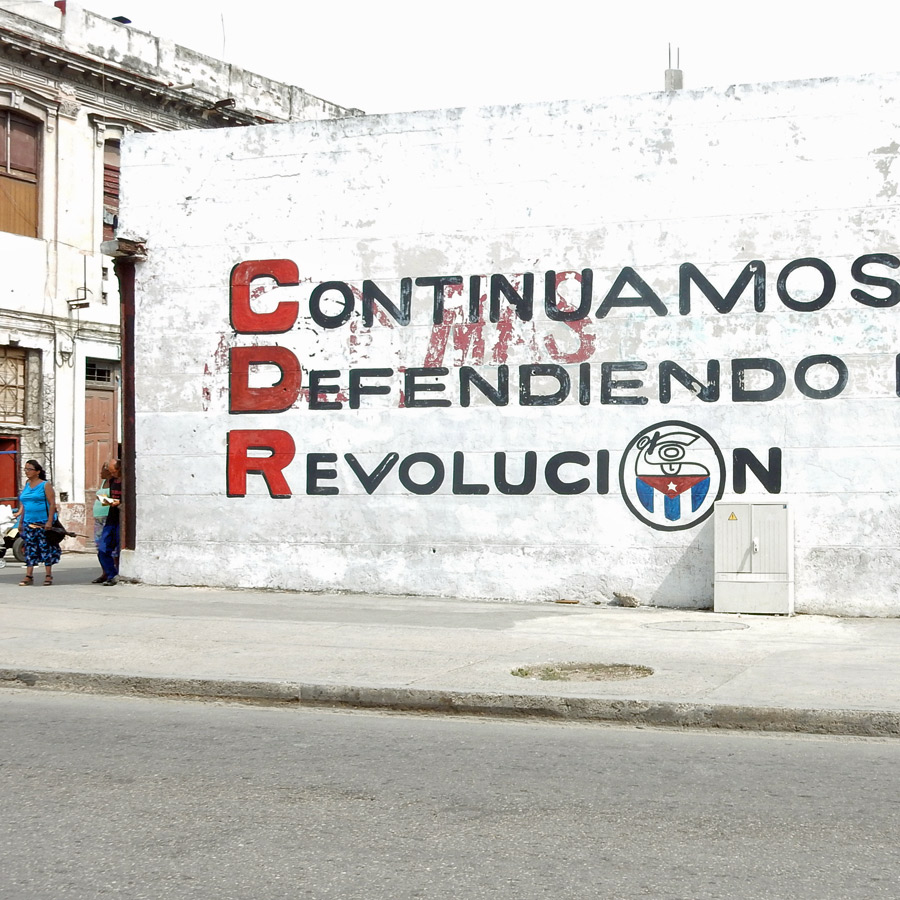 places to photograph in havana - defend revolucion