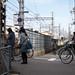塚口駅の手前で緊急停車中の阪急電車
