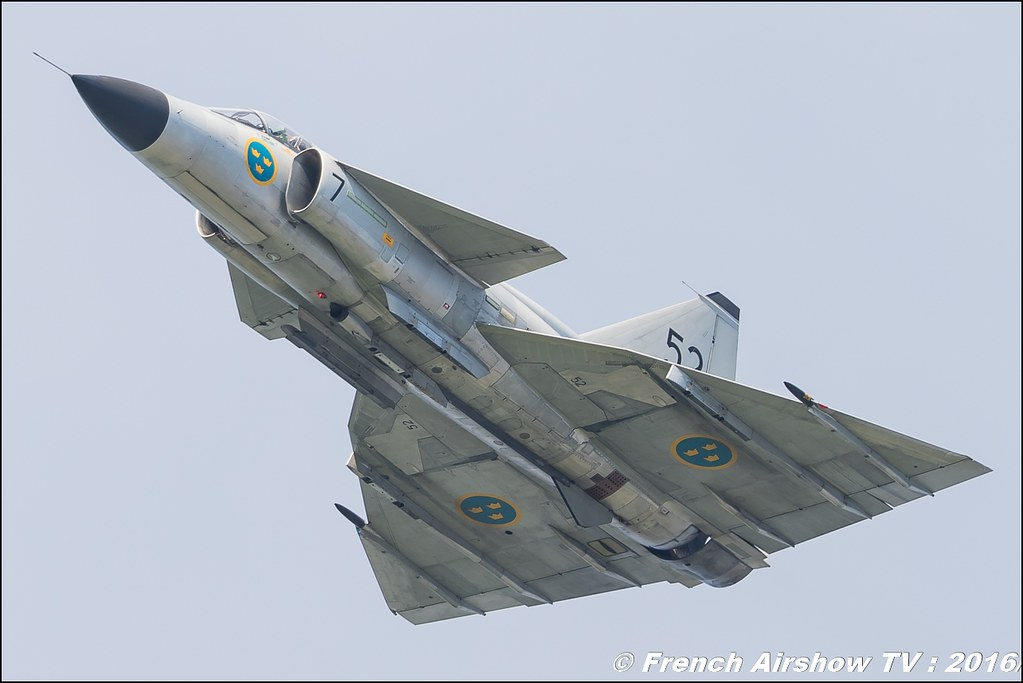 JA-37 Viggen Swedish Air Force Historic Flight , Saab ,airpower zeltweg 2016 , AIRPOWER16 - Österreichs Airshow , Steiermark , Austria, Canon Reflex , EOS System