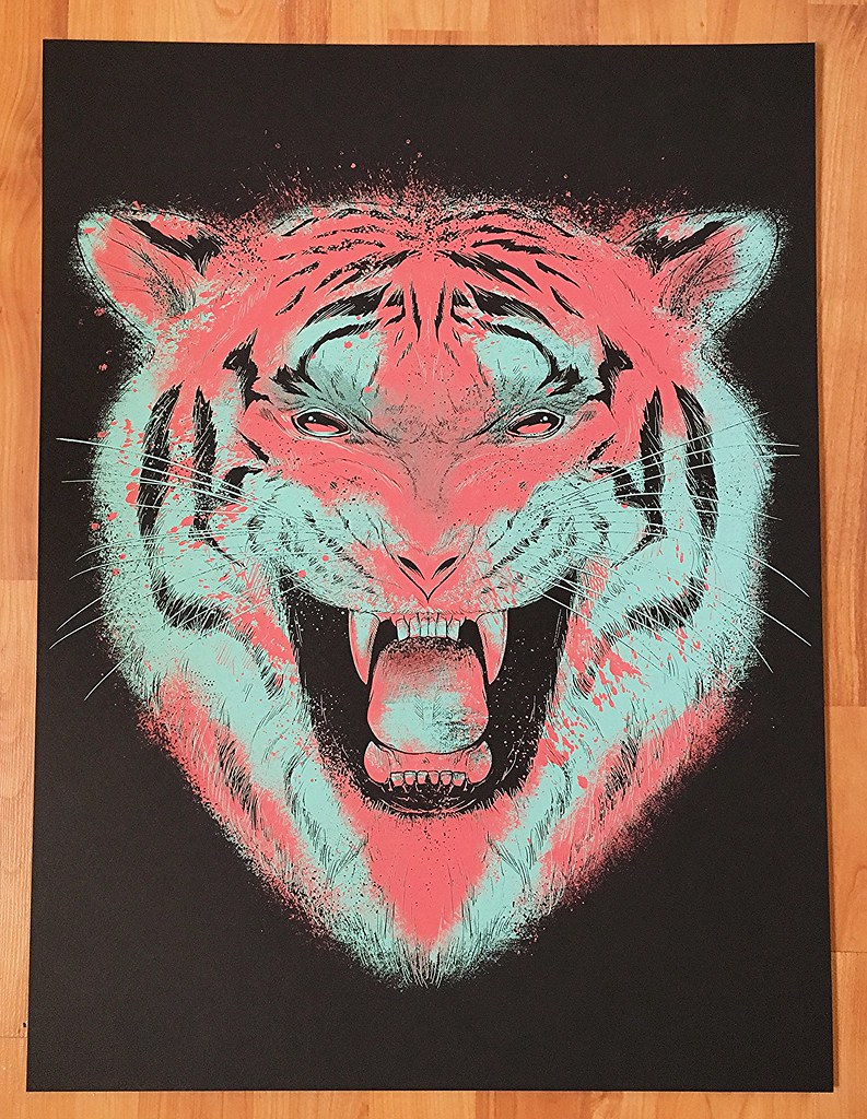 Matt Johnson Tiger Silkscreen