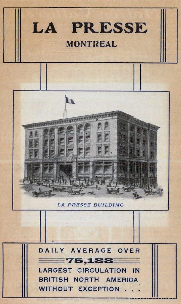Publicité pour le journal La Presse. 1903. P98-01_024 2