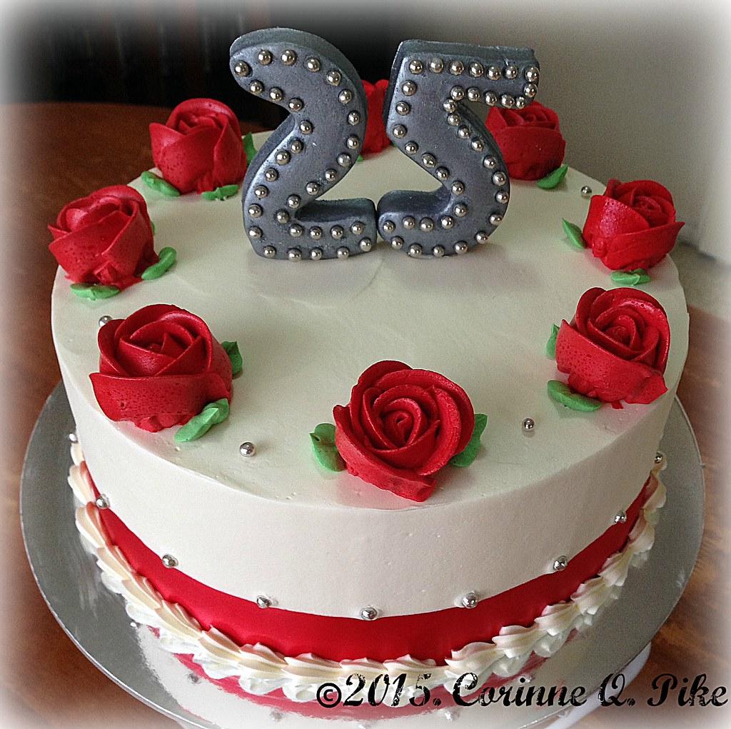 Small 25th Wedding Anniversary Cake Pikerinne Flickr