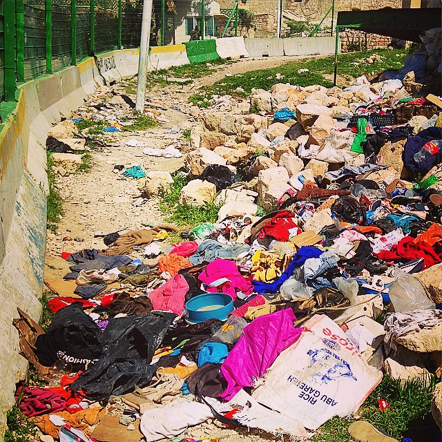 After Purim Celebrations Last Week Israeli Settlers Dump