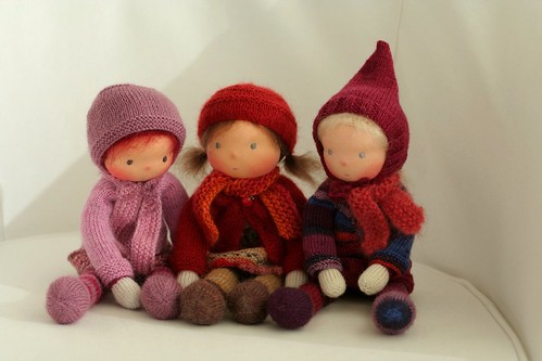 Knitted Waldorf dolls 13