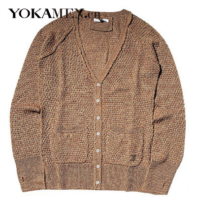 Fashion beauty to turn rough shaping knit sweaters gentle temperament male