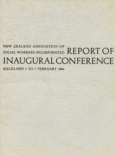 Report of Inaugural Conference | by ANZASW