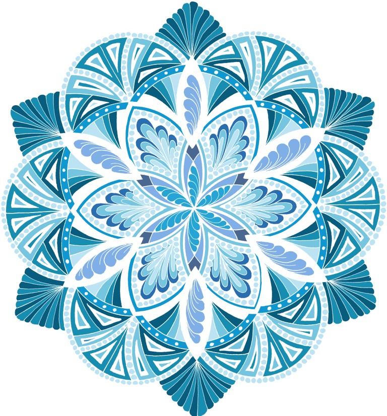 Energize It Ocean White Mandala Hand Drawn Design With