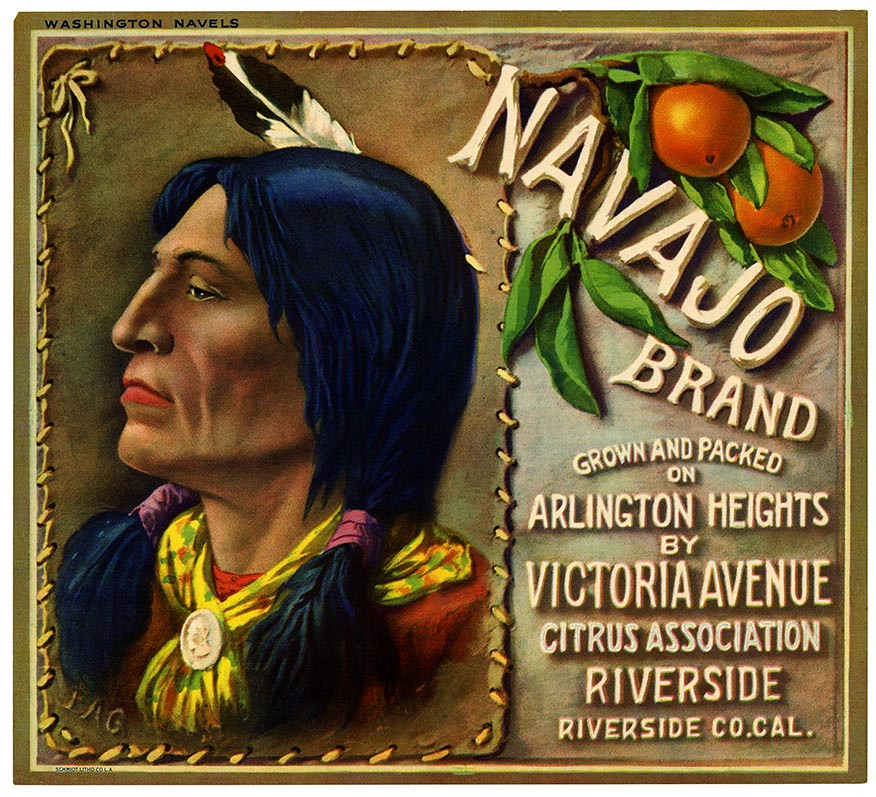 Orange crate label, Navajo Brand, Schmidt Litho. Co . | by California Historical Society Digital Collection