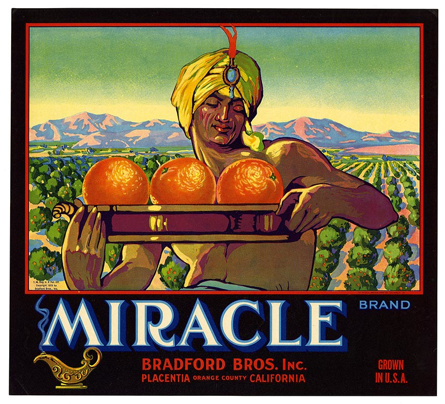Orange crate label, Miracle Brand, Western Litho. Co . | by California Historical Society Digital Collection