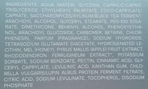 ingrédients Crème de jour Edeleis chlorys