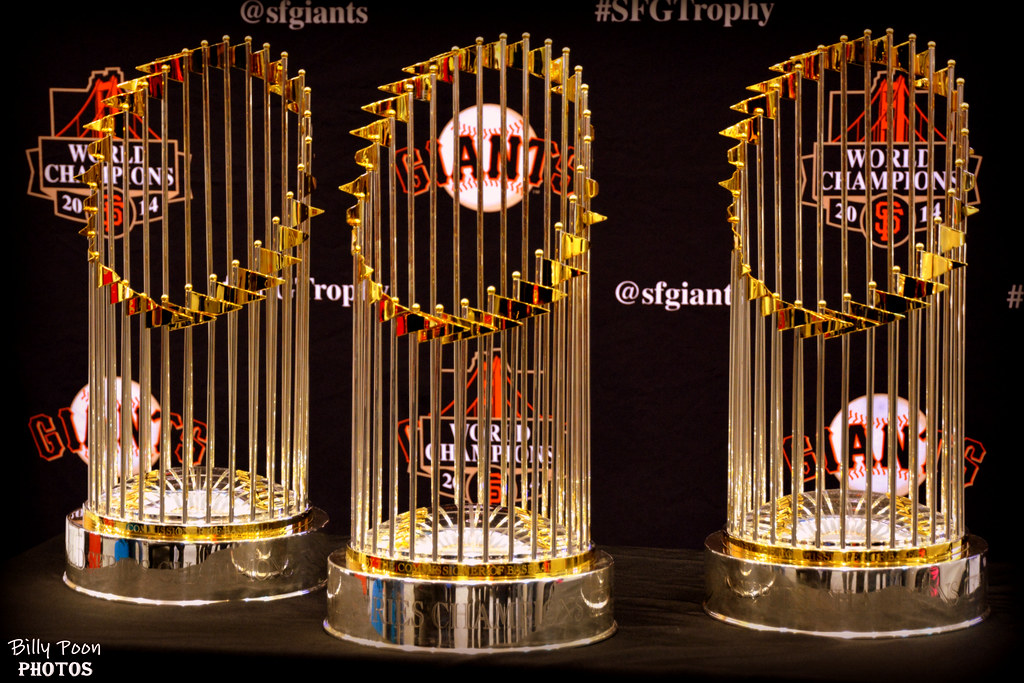 Image result for giants 3 ws trophies