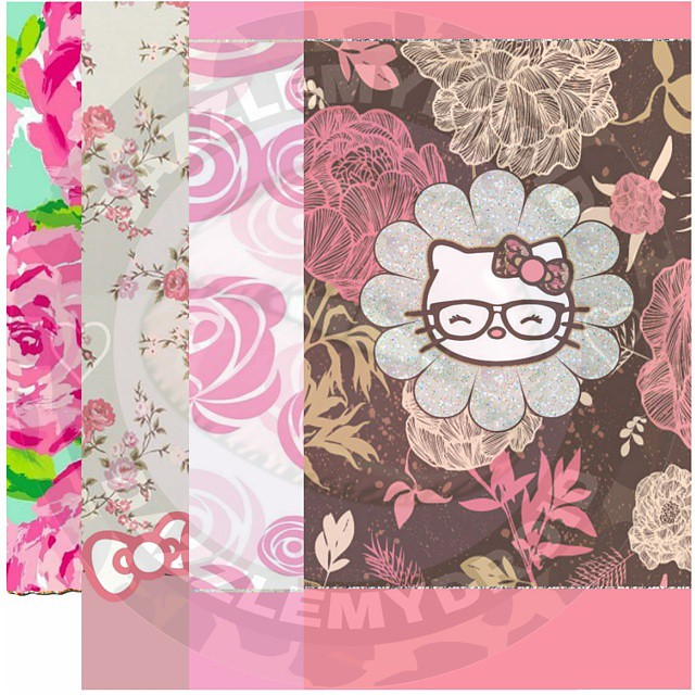 New 4 Piece Floral Hello Kitty Wallpaper Collection Going Flickr