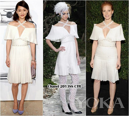 Stars love big NO.22 Zhou Chanel high skirt outfit clashes, Jessica
