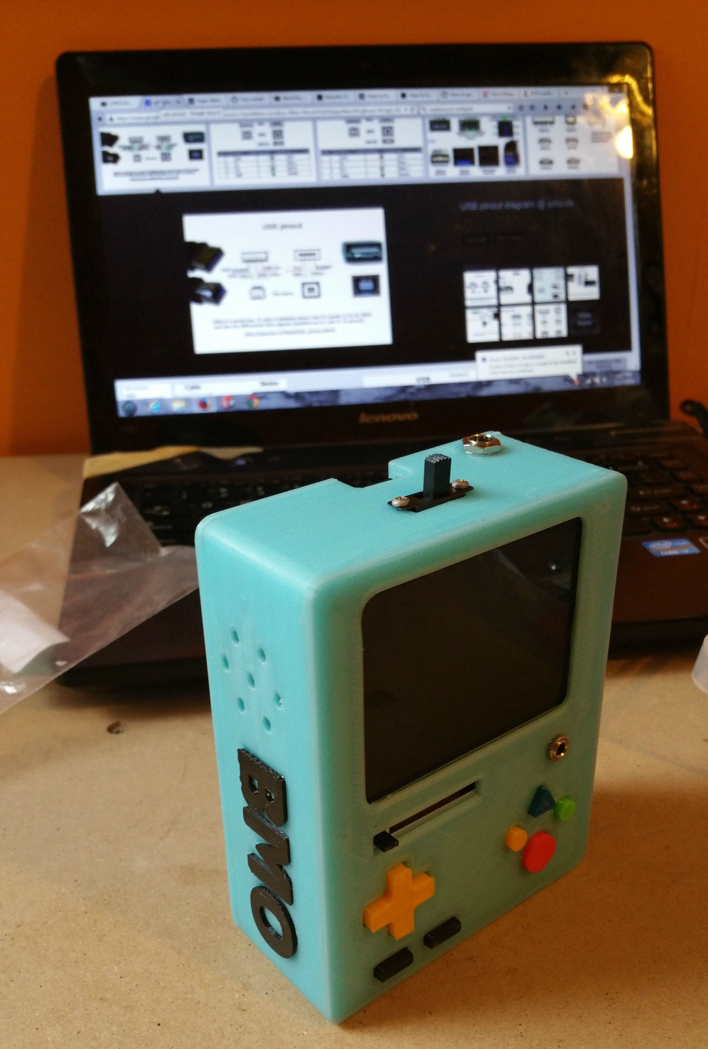 Handheld Adventure Time BMO Raspberry Pi Emulator