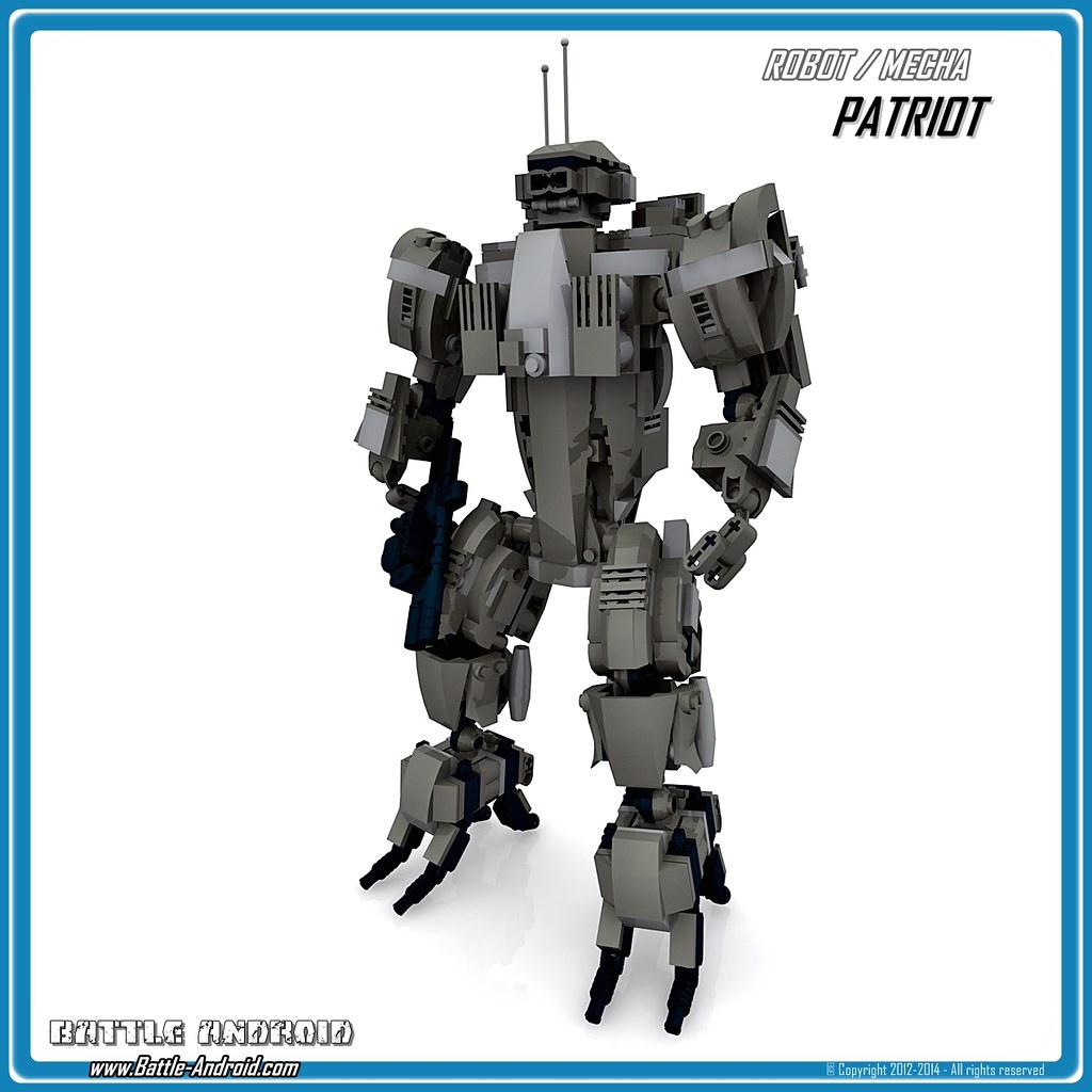 battle android robot patriot custom lego robot mecha flickr. Black Bedroom Furniture Sets. Home Design Ideas