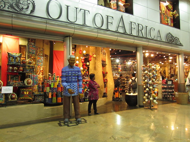 Airport shopping in Johannesburg South Africa