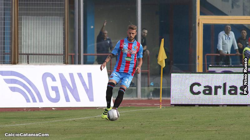 De Rossi nei minuti finali di Catania-Lecce