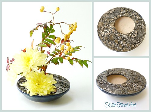 Ikebana dish from Kiln Fired Art