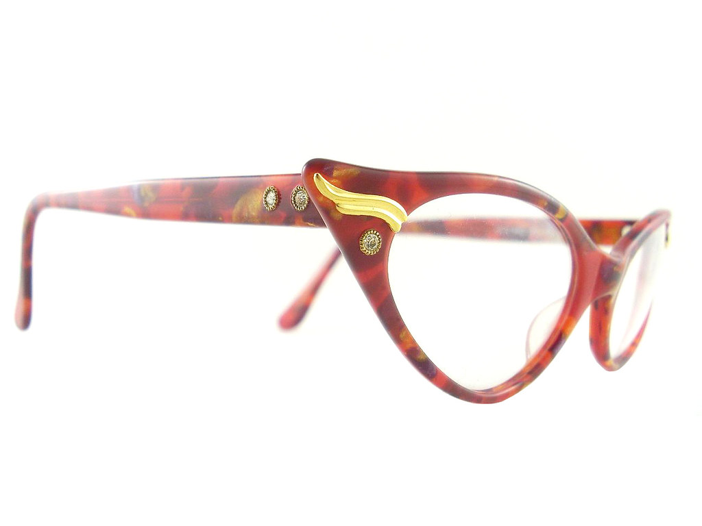 Vintage Cat Eye Glasses Eyeglasses Sunglasses New Frame Ey… | Flickr
