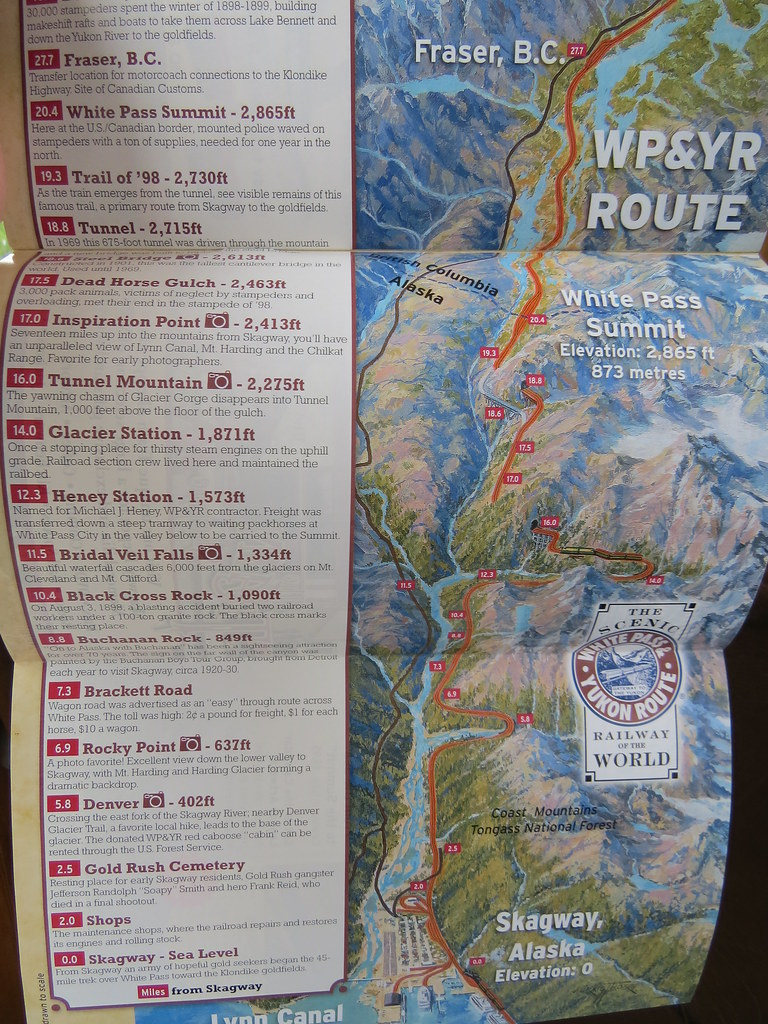 Map of the White Pass and Yukon Route train from Skagway, … | Flickr