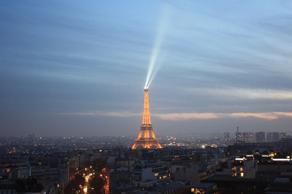 Views from L'arc de Triomphe of Paris