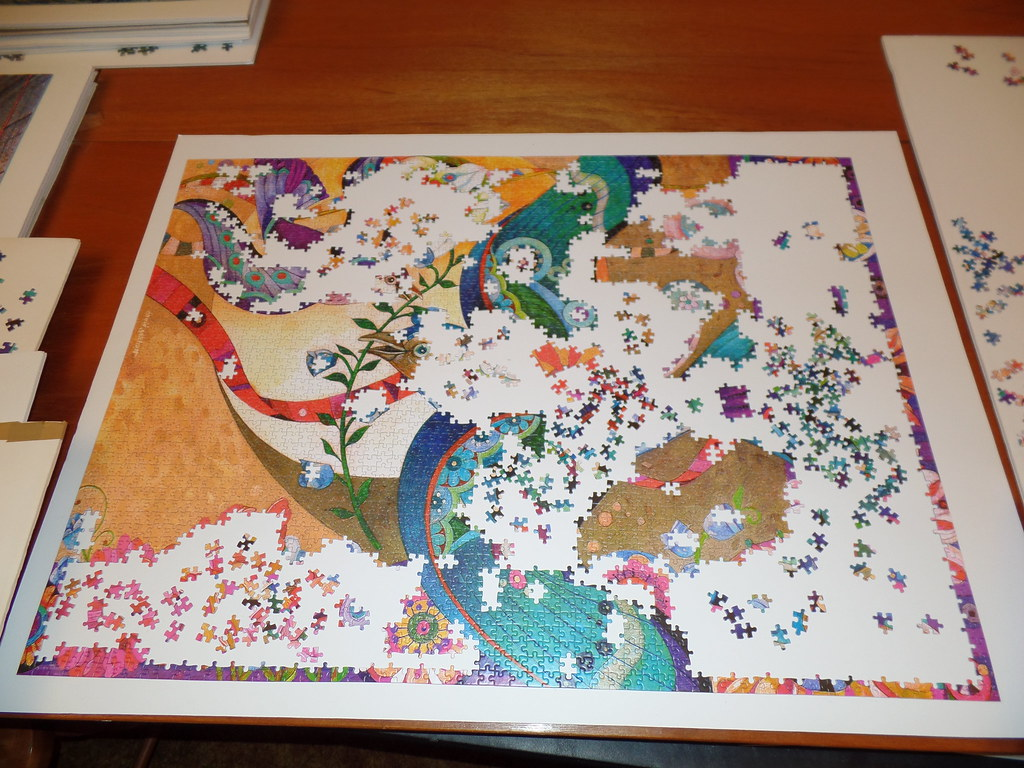 the jaunty spring castorland 3000 pieces progress shot flickr