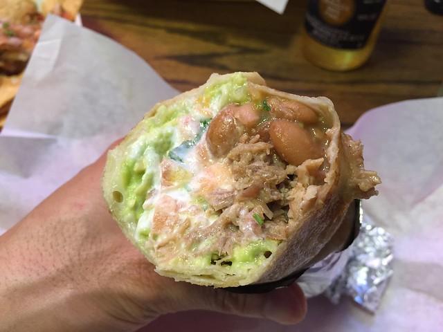 Super carnitas dorado burrito - La Taqueria