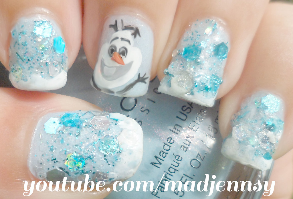 Olaf! Frozen Inspired Nail Art | Watch HD Nail Tutorial! you… | Flickr