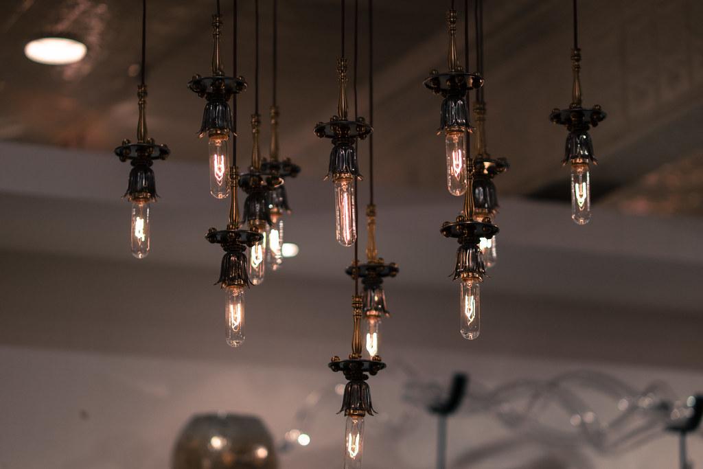 edison bulb chandelier by nan palmero