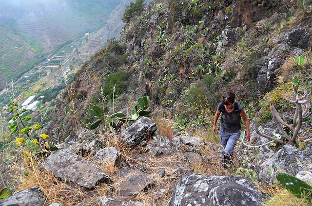 Steep climb, La Gomera