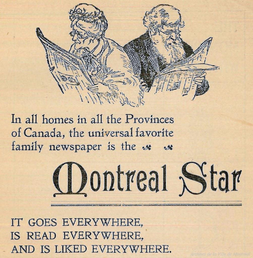 Publicité pour le journal Montreal Star. 1900. P98-01_020 3
