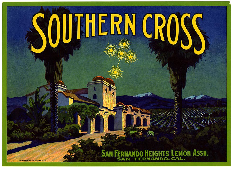 Lemon crate label, Southern Cross brand, Western Litho. Co . | by California Historical Society Digital Collection