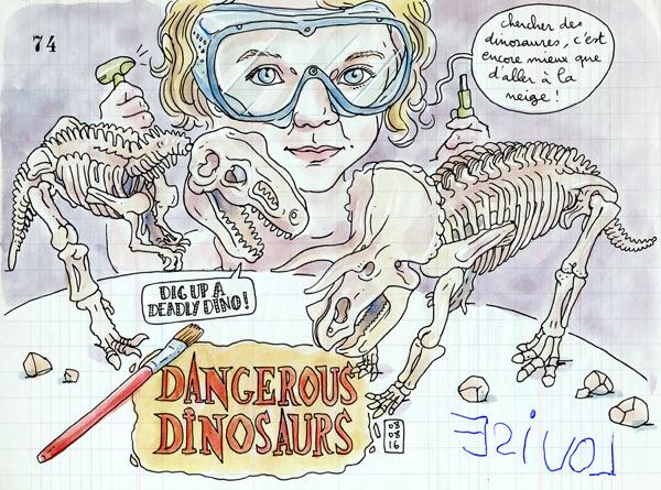 louise digging dinosaurs