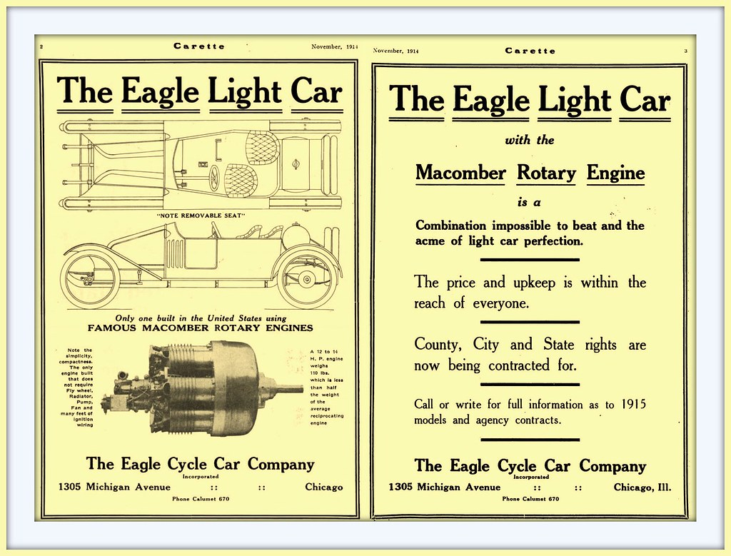 1914 The Eagle Light Car -Carette - with Famous Macomber R… | Flickr