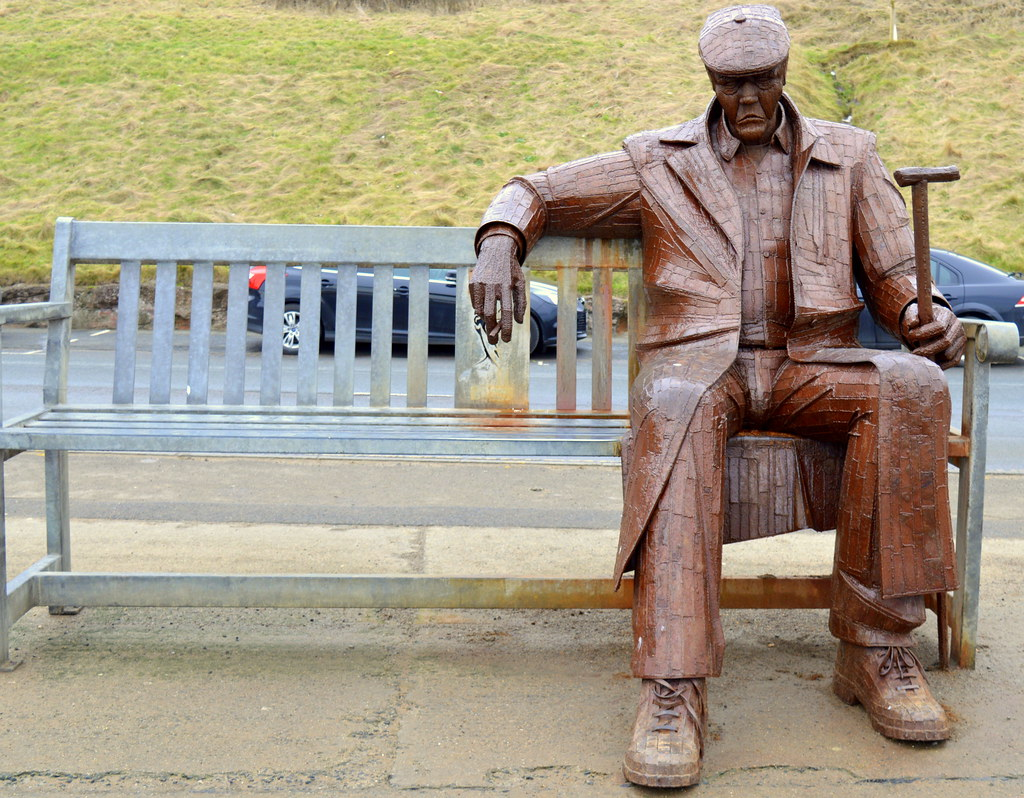 Image result for Freddie Gilroy and the Belsen Stragglers – an old soldier sitting on a bench.