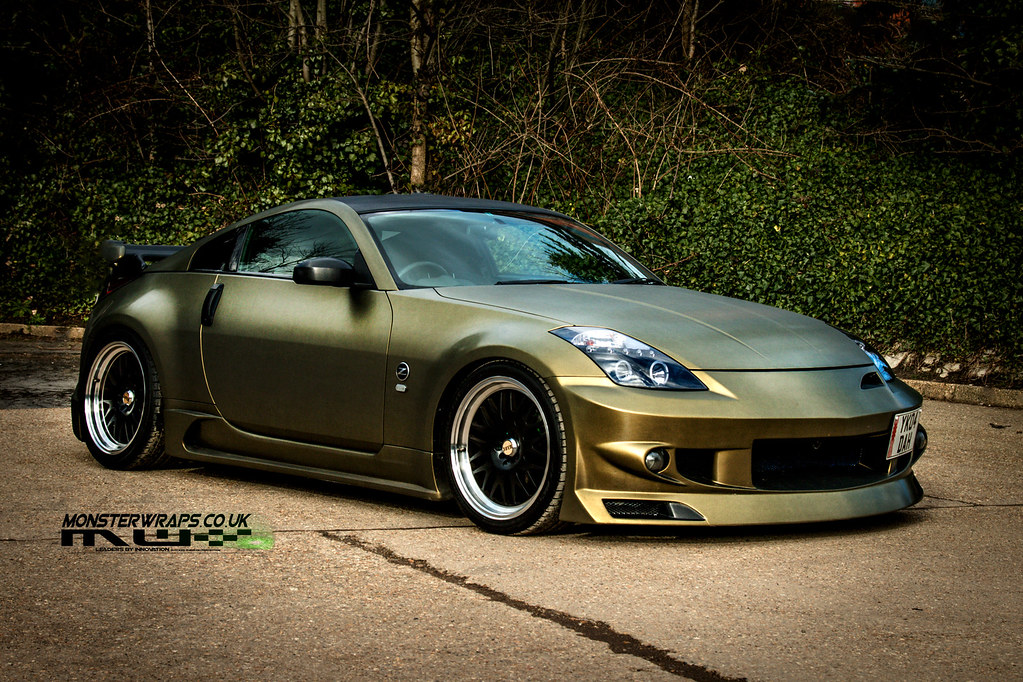 Nissan 350z Brushed Gold And Black Wrap By Monsterwraps Co Flickr