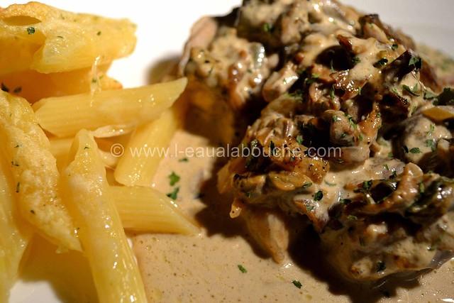 Filets Mignons aux Cèpes & Penne Rigate Gratinés © Ana Luthi Tous droits réservés  019