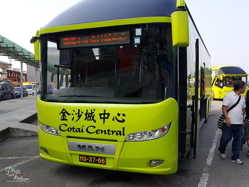 macau airport terminal bus