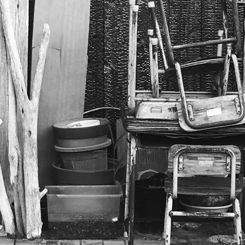 Stacks #stacked #chairs #found #stilllife #blackandwhite #japan... | by tiinateaspoon