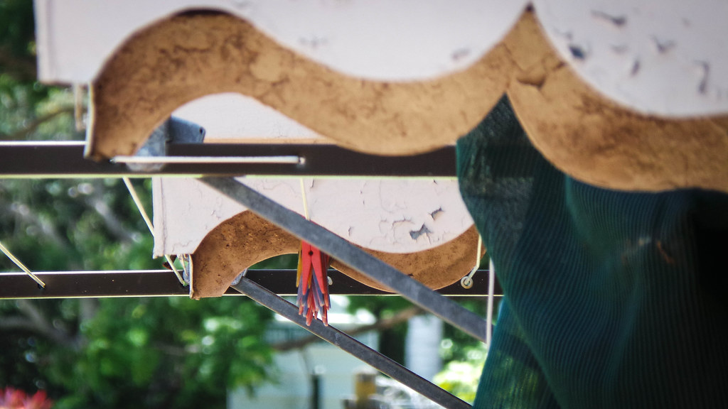 Window Awnings and Clothesline | Modern-ish clothes line ...