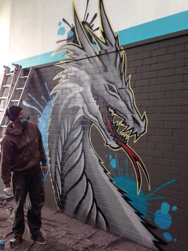 Crossfit Gym Graffiti Muurschildering Sportschool Workout