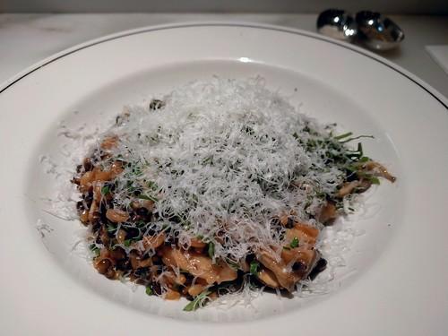 Marinated Mushrooms, Black Barley, & 65/65 egg