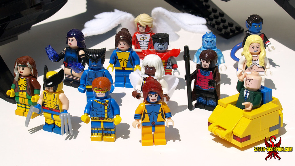 LEGO Custom X-Men   Closeup of the minifigs. Outfits inspire…   Flickr