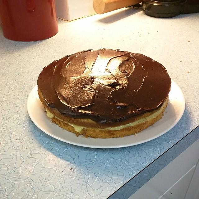 Boston Cream Cake Foodnetwork